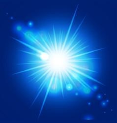 Abstract blue sunburst vector