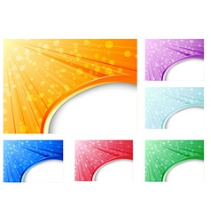Abstract business backgrounds collection vector image