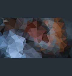 Abstract irregular polygon background blue brown vector