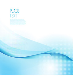 abstract smooth color wave background vector image