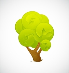 Abstract Tree isolated on a white background vector image