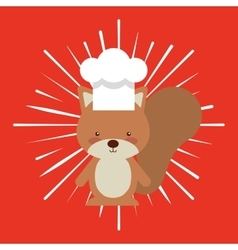 animal chef character kids menu vector image