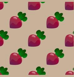 beet seamless pattern vector image