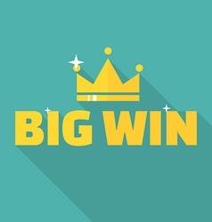 Big win banner vector