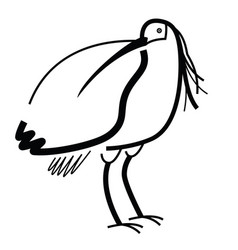 birds collection crested ibis isolated icon vector image