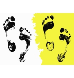Black Foot Imprints vector image