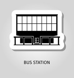 bus station building web sticker vector image