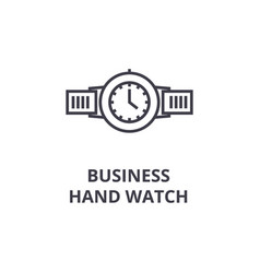 business hand watch line icon outline sign vector image