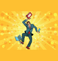 Businessman juggler clerk vector