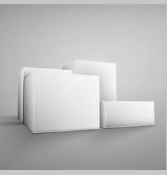 Cardboard white boxes vector