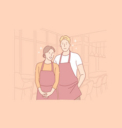 catering workers concept vector image