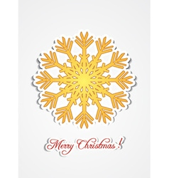 Christmas with snow flake vector