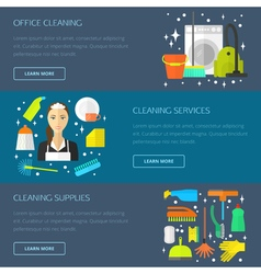 Cleaning concept template vector image