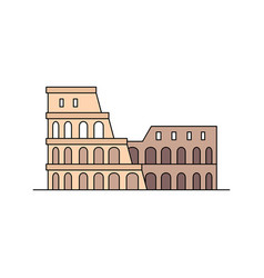 Coliseum icon vector