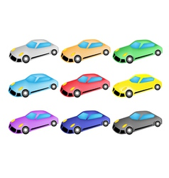 Colorful Set of Sports Car Icon vector