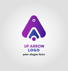 Colorful up arrow logo template with 3 various vector