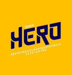 Comics super hero style font alphabet letters vector
