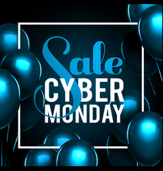 cyber monday sale gold lettering holiday shopping vector image