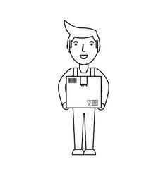 Deliver courier cartoon vector