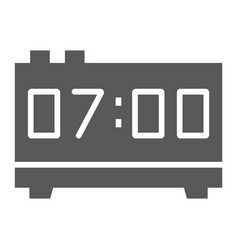 digital clock glyph icon electronic and digital vector image