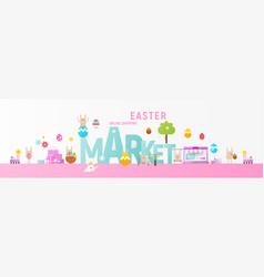 easter market online vector image