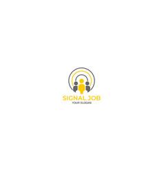 Employee engagement logo design vector
