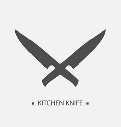 Flat kitchen knives for shop and design butcher vector