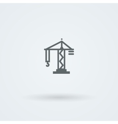 Flat minimalist icon crane vector image