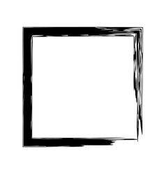 Frame square ink grunge background vector