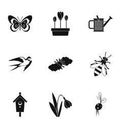 Garden maintenance icons set simple style vector