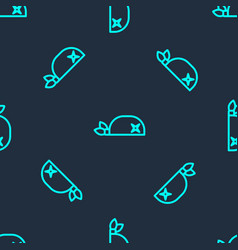 Green line pirate bandana for head icon isolated vector