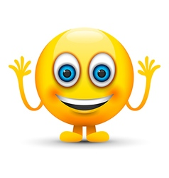 happy emoji character vector image