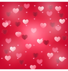 hearts red square background vector image