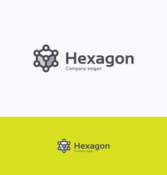 Hexagon 3D logo vector image