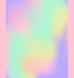 Holographic gradient blank template vector