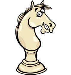 Horse chess pawn cartoon vector