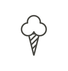 ice cream cone icon line dessert symbol vector image