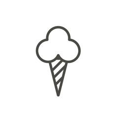 ice cream cone icon line dessert symbol vector image
