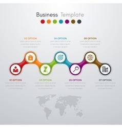 infographics timeline seven options vector image