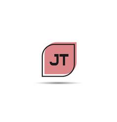 initial letter jt logo template design vector image