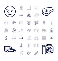 Isolated icons vector