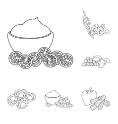 Isolated object of taste and crunchy symbol vector