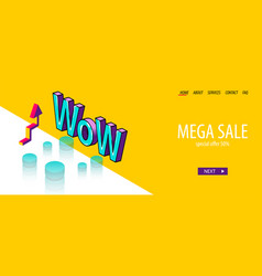 isometric banner business flat site background vector image
