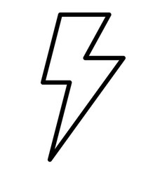 Lighting bolt icon outline style vector
