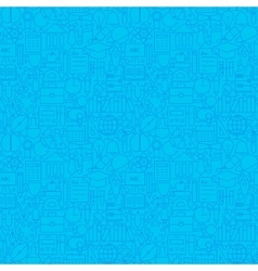 line science education blue tile pattern vector image