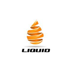 liquid oil energy ribbon logo sign symbol icon vector image