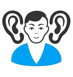 Listener flat icon vector