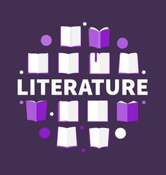Literature round creative in vector
