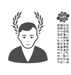 Man Glory Icon With Tools Bonus vector