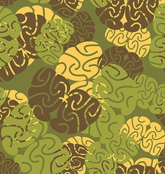Military texture of brains Camouflage army vector